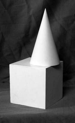 Простая композиция из геометрических тел