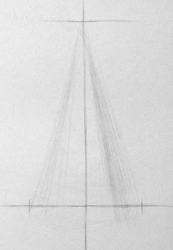Рисунок конуса. Построение осевых линий