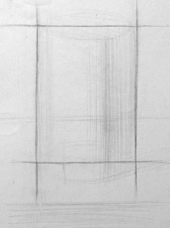 Рисунок цилиндра. Начало работы над построением